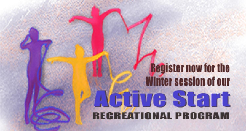 Register now for Winter recreational Active Start programs