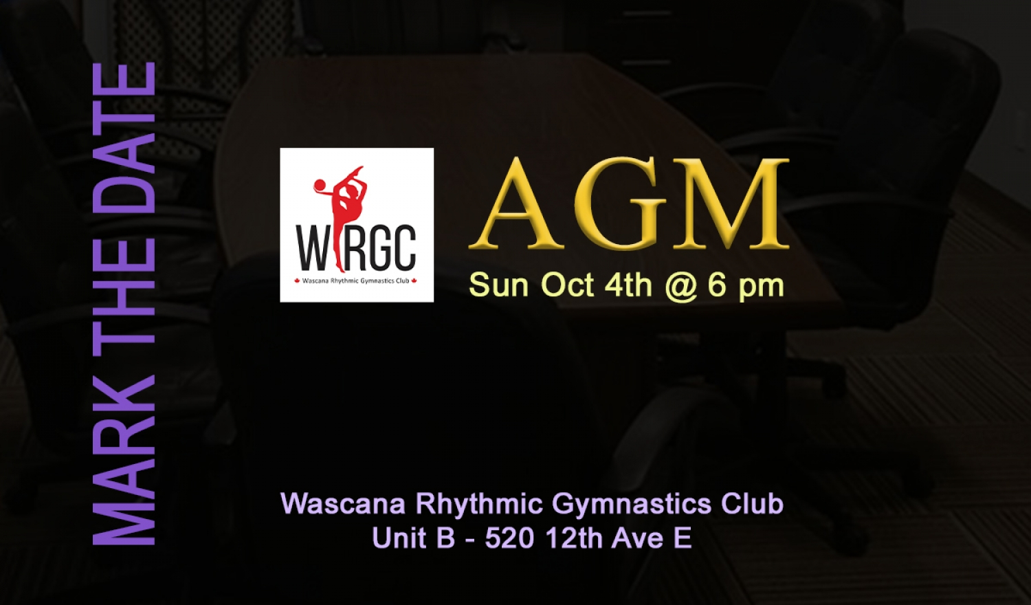 WRGC 2020 AGM - Oct 4th