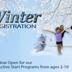 Winter Registration is Now Open for Active Start Programs