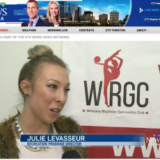 Wascana Rhythmic Gymnastics Club featured on CTV news Dec. 18th