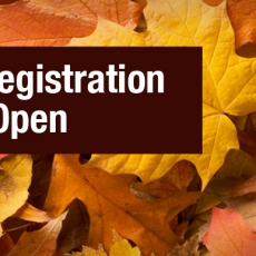 Fall Registration 2017 Open
