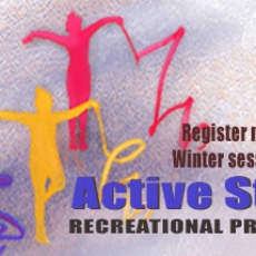 Register now for Winter recreational Active Start programs